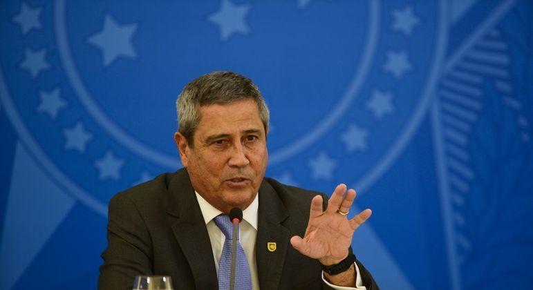 O ministro da Defesa Braga Netto