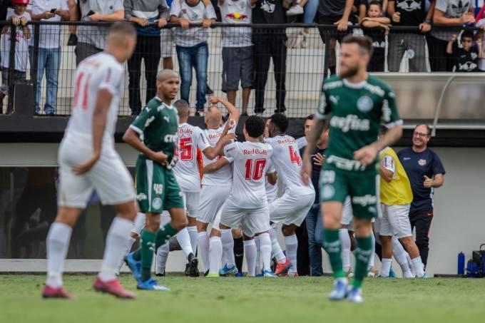 O Red Bull Bragantino conseguiu derrotar o Palmeiras no Campeonato Paulista
