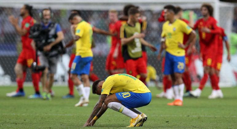 Brasil eliminado pela Bélgica em 2018. Em 14, foi a Alemanha, em 2010, a Holanda, em 2006, a França