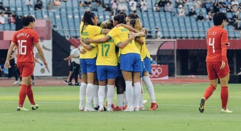 Final de jogo, alegria do Brasil e desalento da China
