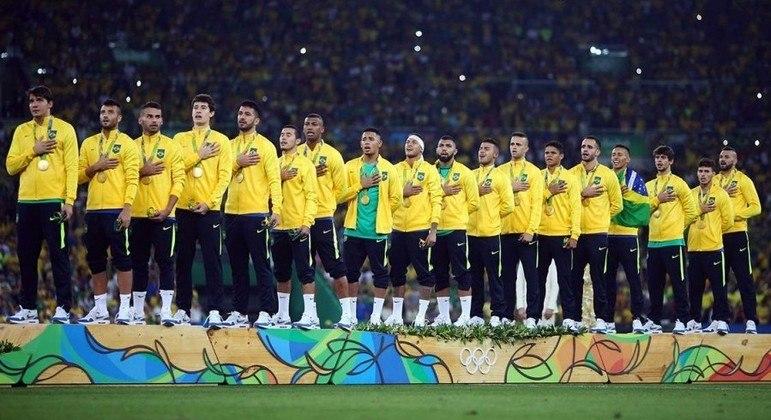 O elenco dos rapazes do Brasil, ouro no Rio/2016
