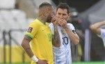 Em Portugal, o jornal A Bola colocou o fato em sua manchete principal: 'Brasil-Argentina suspenso'