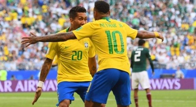 Brasil avançou às quartas de final ao derrotar o México
