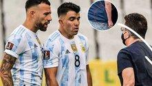 Fifa analisa. E Olé flagra agente da PF, armado, discutindo com jogadores da Argentina