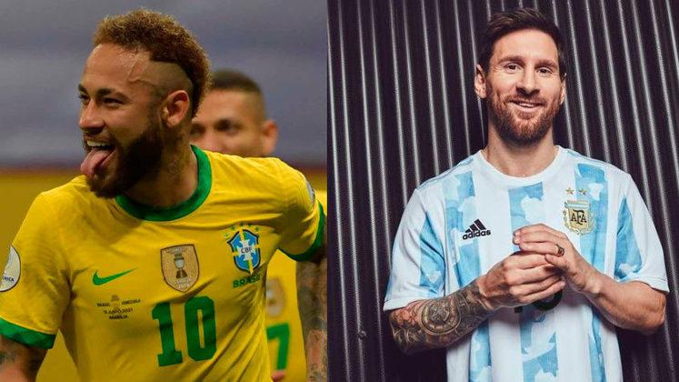 Brasil e Argentina se enfrentarão na final da Copa América, neste sábado (10), às 21h, no Maracanã. Além da rivalidade, a decisão também marca mais um confronto entre Neymar e Messi. Para entrar no clima, relembre como foram todos os duelos entre eles!