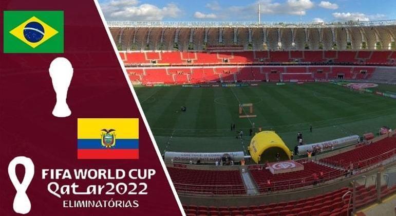 Brasil X Equador, no Beira Rio de Porto Alegre