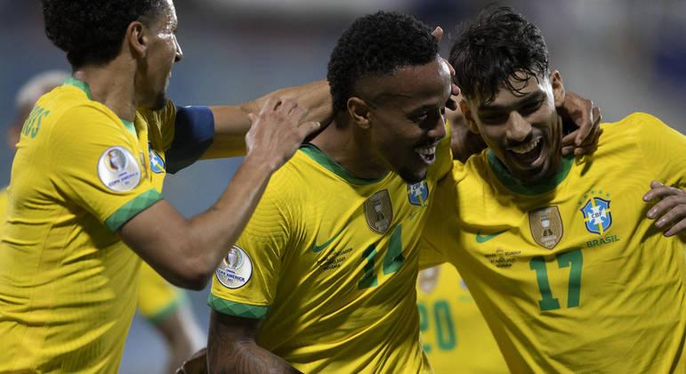 Éder Militão marcou o gol do Brasil no empate diante do Equador