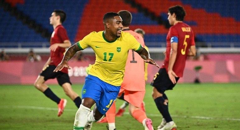 Gol de Malcom deu ao Brasil o sétimo ouro em Tóquio 2020