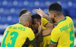 Malcom fez o segundo gol do Brasil contra a Espanha