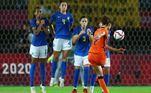 O jogo voltou a ficar empatado após um golaço da lateral holandesaDominique Janssen, aos 33 minutos. E o jogo terminou em 3 a 3