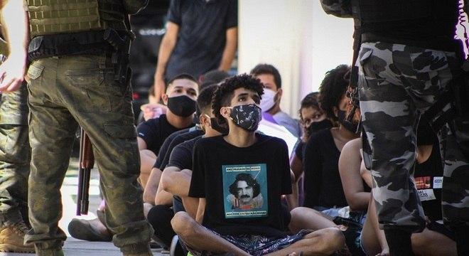 Manifestantes foram detidos em Belém