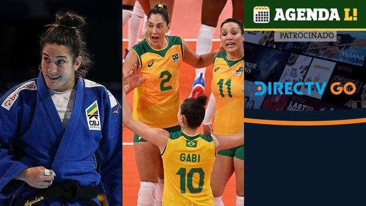 Brasil tem chances de medalha no judô e na ginástica, tem compromissos no vôlei, vôlei de praia e muito mais. Confira a agenda completa, sempre no horário de Brasília.