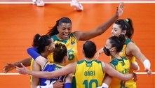 Rebeca Andrade aproveita folga para torcer para Brasil no vôlei