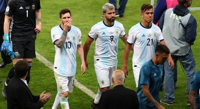 Messi reclamou da arbitragem