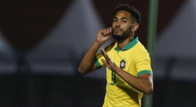 Brasil x Chile (Sub-23) - Matheus Cunha comemora seu gol