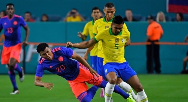 Casemiro marcou o primeiro gol do Brasil no jogo