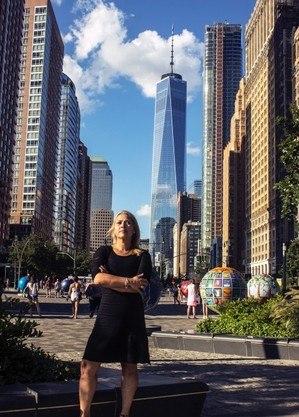 Adriana  ainda não conseguiu subir a Freedom Tower