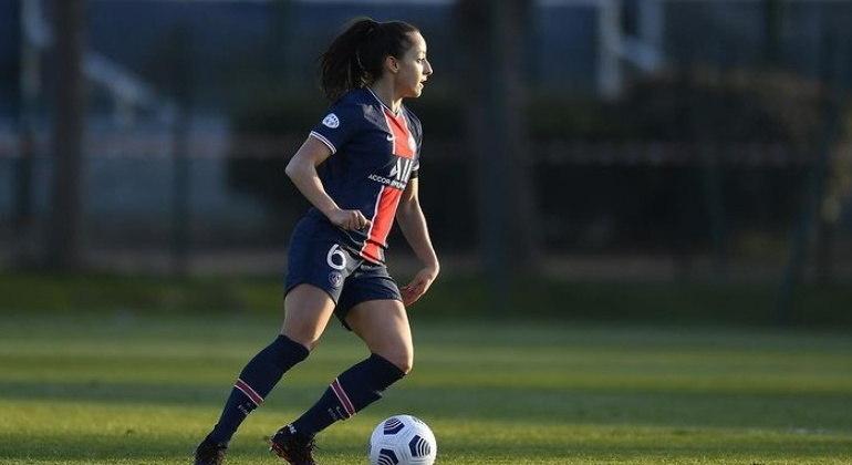 Luana marcou o quinto gol da goleada contra o Sparta Praga, pelas oitavas da Champions Feminina