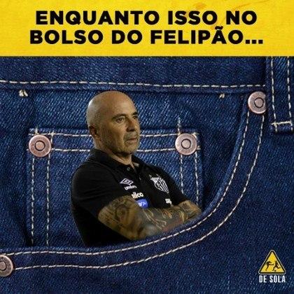 Brasileirão 2019 (18/05/2019): o Palmeiras de Felipão atropelou o time comandado por Jorge Sampaoli. Com os 4 a 0, os torcedores do Verdão tiraram onda nas redes sociais