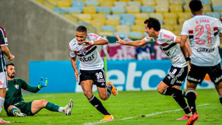 Brasileirão 2020 - Na edição mais recente do Brasileirão, após vencer o Botafogo em jogo atrasado da 18ª rodada, em casa, por 3 a 0, o São Paulo abriu sete pontos de vantagem para o segundo colocado, Atlético-MG.