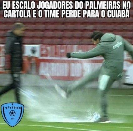 Brasileirão: derrota do Palmeiras para o Cuiabá rendeu diversos memes na web
