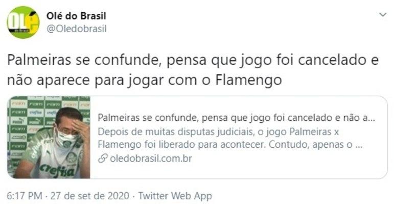 Brasileirão: os melhores memes de Palmeiras 1 x 1 Flamengo