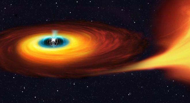 Estrela anã branca que precisa de 29,6 segundos para completar um giro ao redor de si