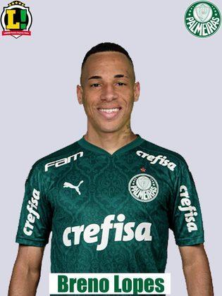 Breno Lopes: 6,5 - Boa estreia de Breno como titular no Palmeiras. Esteve pelo lado onde o time mais atacou e soube ser efetivo, visto que participou dos dois primeiros gols alviverdes. No segundo tempo, atuou mais livremente, ajudando no ataque e na defesa.
