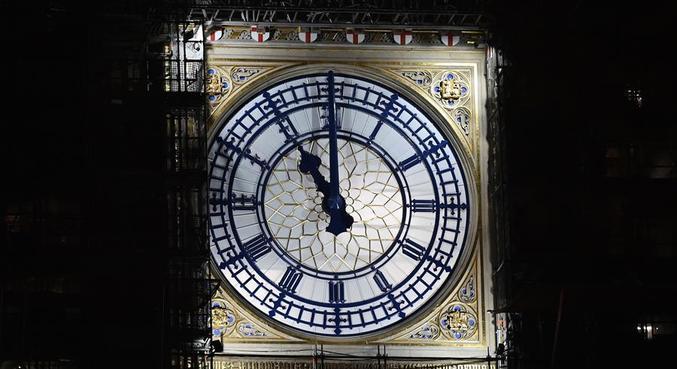 Brexit foi concretizado às 23h, no horário local, marcado no Big Ben