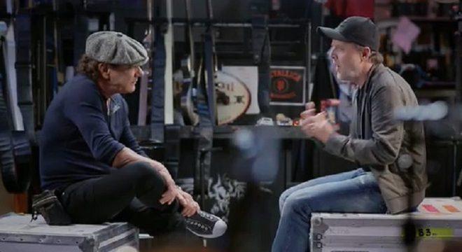 Brian Johnson (ACDC) e Lars Ulrich (Metallica)