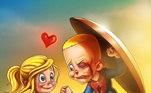 O ato de amor do pequeno virou esse lindo desenho...