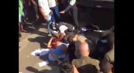 Feirantes filmaram briga no Ceasa