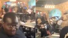 Briga entre famílias em restaurante inclui até lançamento de cadeiras