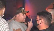 Gerente e deputado discutem após flagrante de festa clandestina