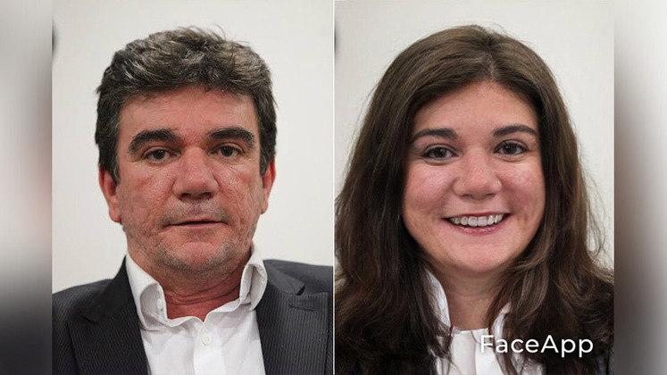 Brincadeira com aplicativo que 'muda' o gênero das pessoas foi usado com presidentes e diretores de futebol. Nessa imagem, Andrés Sanchez, presidente do Corinthians