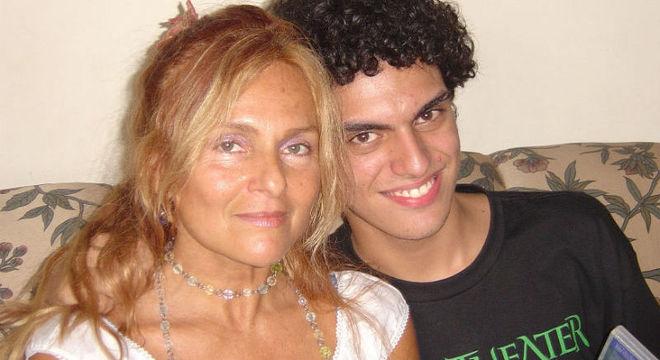 BRita BRazil e o filho, Rian Brito, morto em 2016