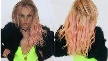 Britney Spears exibe curvas ao posar de maiô e casaco de pele