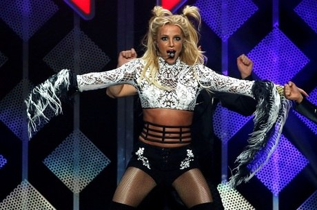 Britney Spears durante show em Los Angeles