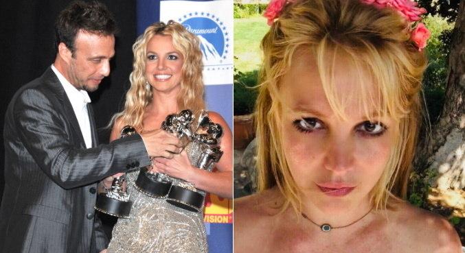 Na primeira imagem, Larry e Britney nos bastidores do VMA 2008