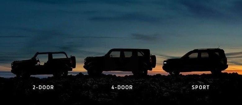 Trio mostrado no teaser da Ford nos EUA: três versões sendo uma de apelo mais moderno