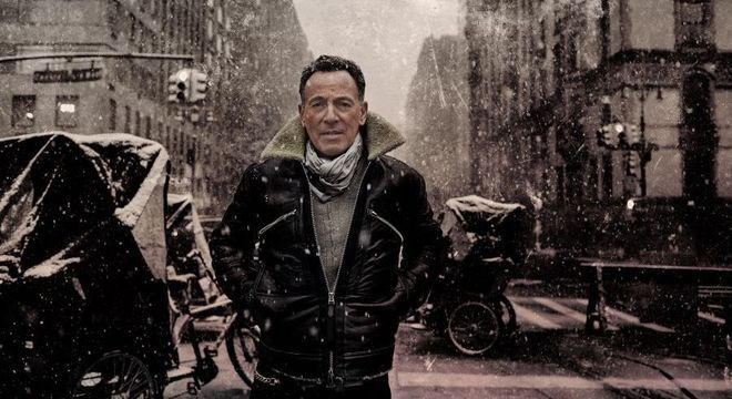Springsteen na foto que ilustra a capa do novo álbum