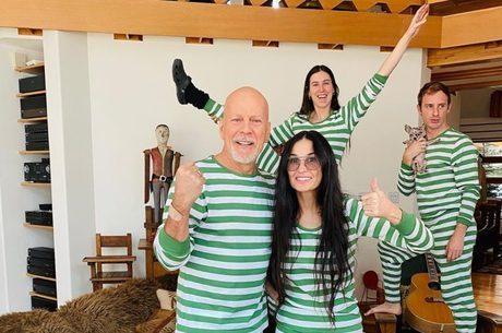 Bruce Willis e Demi Moore juntis em quarentena