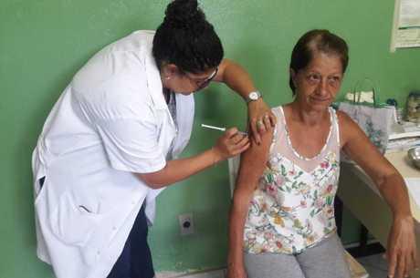 Ana Maria também foi se vacinar pela manhã