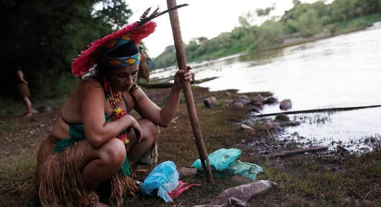 Indígenas da aldeia Naô Xohã, em São Joaquim de Bicas, dependiam de rio atingido por lama