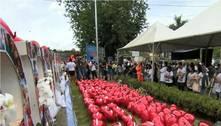Familiares fazem homenagem aos 272 mortos de Brumadinho