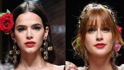 Marina Ruy Barbosa se esforça para parecer que está 'bem' com Bruna Marquezine ()