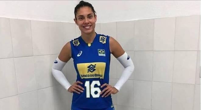 A atleta Bruna Honório, 29, é jogadora da seleção brasileira de vôlei