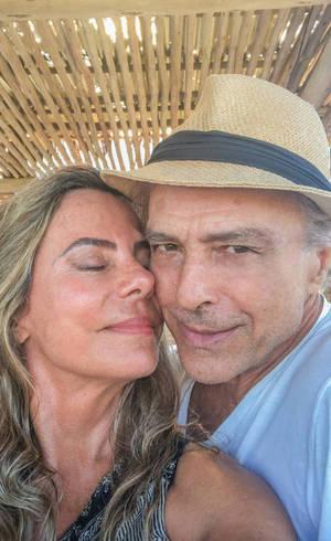 A 'selfie do amor' de Bruna e Riccelli