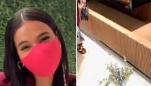 Bruna Marquezine quebra vaso de loja em passeio por shopping