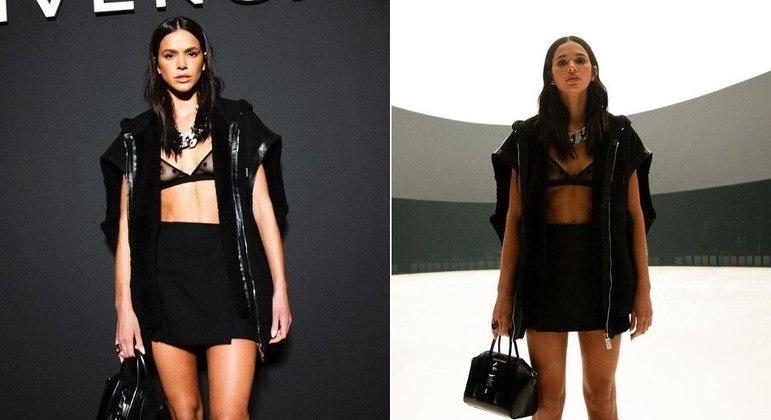 Bruna Marquezine durante o desfile da grife Givenchy, na Semana de Moda de Paris